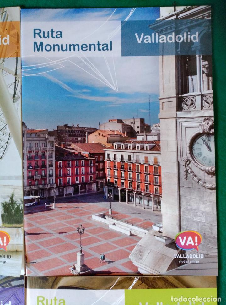Folletos de turismo: VALLADOLID - 4 FOLLETOS - RUTA RIOS DE LUZ, SEMANA SANTA, RUTA MONUMENTAL, MUSEOS E IGLESIAS - Foto 3 - 99709183