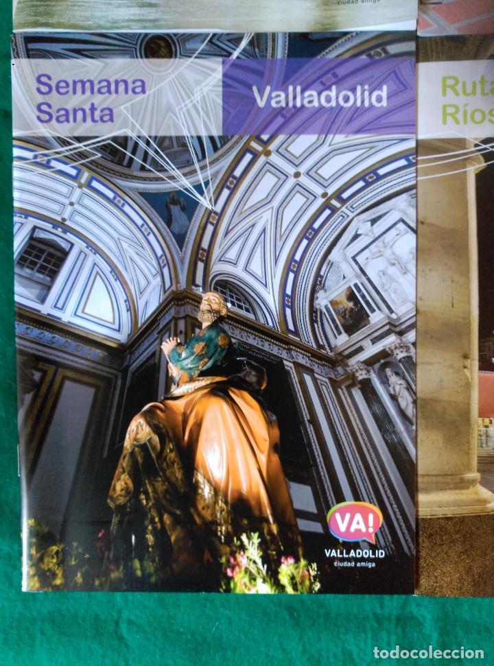 Folletos de turismo: VALLADOLID - 4 FOLLETOS - RUTA RIOS DE LUZ, SEMANA SANTA, RUTA MONUMENTAL, MUSEOS E IGLESIAS - Foto 4 - 99709183