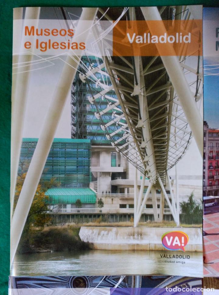 Folletos de turismo: VALLADOLID - 4 FOLLETOS - RUTA RIOS DE LUZ, SEMANA SANTA, RUTA MONUMENTAL, MUSEOS E IGLESIAS - Foto 6 - 99709183
