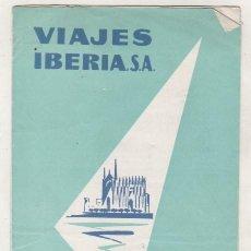 Folletos de turismo: TRIPTICO VIAJES IBERIA S. A. MALLORCA CON UN FOLLETO ADICIONAL DE BACELONA Y TARDE FLAMENCA. . Lote 99715115