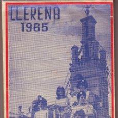 Folletos de turismo: LLERENA. GUÍA POPULAR - CALLEJERA E HISTÓRICO TURÍSTICA DE LLERENA 1965 AÑO JUBILAR JACOBEO. Lote 99857651