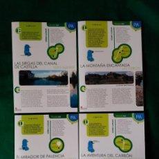 Folletos de turismo: 4 DIPTICOS CON LUGARES DE INTERES EN PALENCIA - SOTO ALBUREZ - BARRUELO - MONTE VIEJO - LAS TUERCES . Lote 100025327