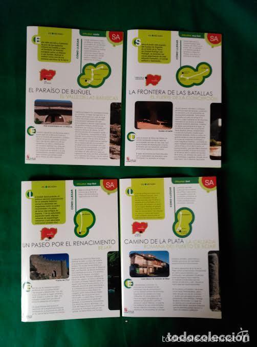 4 DIPTICOS CON LUGARES DE INTERES EN SALAMANCA - BEJAR - BATUECAS - CALZADA ROMANA - EL FUERTE (Coleccionismo - Folletos de Turismo)