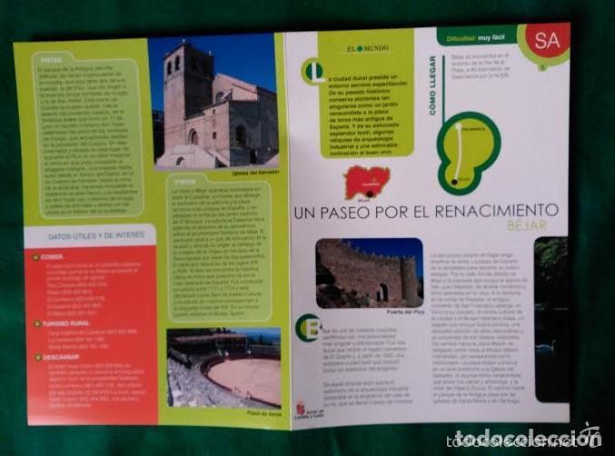 Folletos de turismo: 4 DIPTICOS CON LUGARES DE INTERES EN SALAMANCA - BEJAR - BATUECAS - CALZADA ROMANA - EL FUERTE - Foto 2 - 100025455