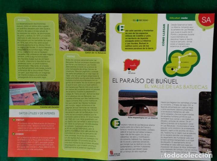 Folletos de turismo: 4 DIPTICOS CON LUGARES DE INTERES EN SALAMANCA - BEJAR - BATUECAS - CALZADA ROMANA - EL FUERTE - Foto 6 - 100025455