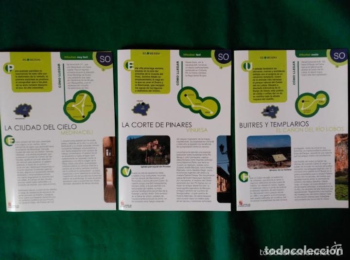 3 DIPTICOS CON LUGARES DE INTERES EN LA PROVINCIA DE SORIA - MEDINACELI - VINUESA - CAÑON RIO LOBOS (Coleccionismo - Folletos de Turismo)