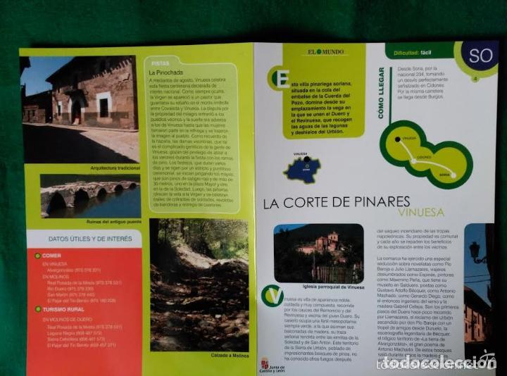 Folletos de turismo: 3 DIPTICOS CON LUGARES DE INTERES EN LA PROVINCIA DE SORIA - MEDINACELI - VINUESA - CAÑON RIO LOBOS - Foto 3 - 100027123