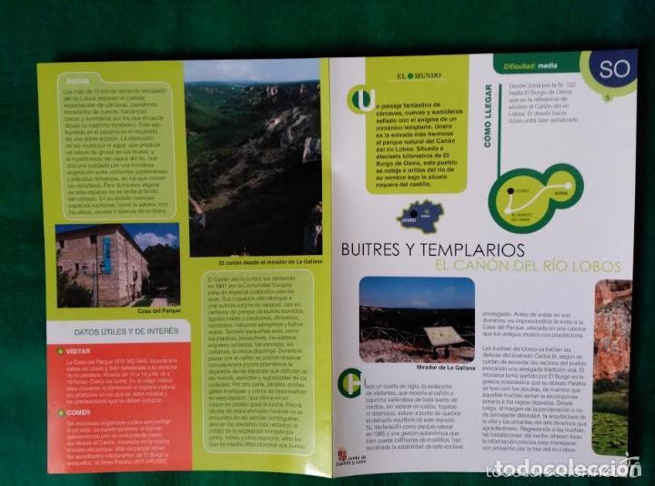 Folletos de turismo: 3 DIPTICOS CON LUGARES DE INTERES EN LA PROVINCIA DE SORIA - MEDINACELI - VINUESA - CAÑON RIO LOBOS - Foto 5 - 100027123