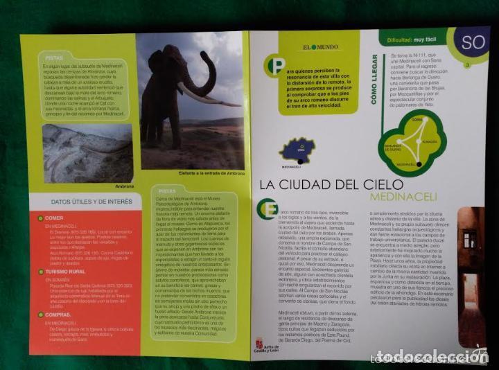 Folletos de turismo: 3 DIPTICOS CON LUGARES DE INTERES EN LA PROVINCIA DE SORIA - MEDINACELI - VINUESA - CAÑON RIO LOBOS - Foto 6 - 100027123