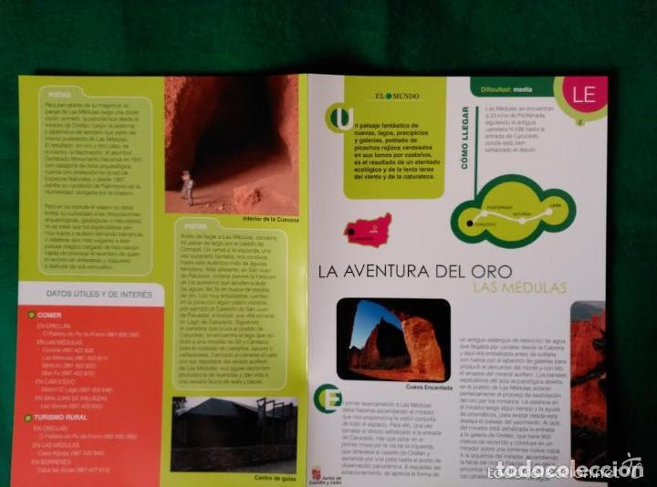 Folletos de turismo: 3 DIPTICOS CON LUGARES DE INTERES EN LA PROVINCIA DE LEON - LOS ANCARES - RIOCAMBA - LAS MEDULAS - Foto 2 - 100027367