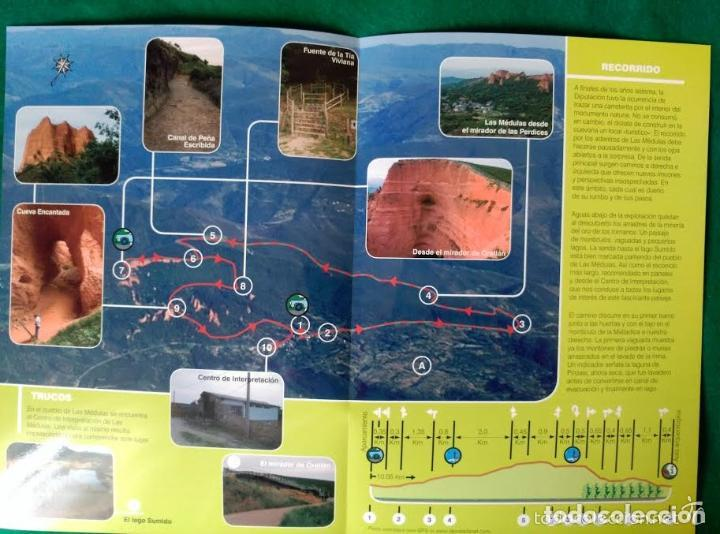 Folletos de turismo: 3 DIPTICOS CON LUGARES DE INTERES EN LA PROVINCIA DE LEON - LOS ANCARES - RIOCAMBA - LAS MEDULAS - Foto 3 - 100027367
