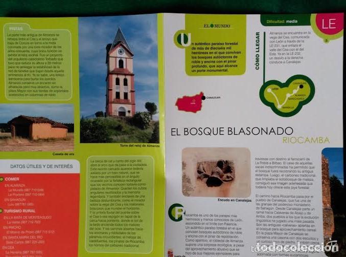 Folletos de turismo: 3 DIPTICOS CON LUGARES DE INTERES EN LA PROVINCIA DE LEON - LOS ANCARES - RIOCAMBA - LAS MEDULAS - Foto 4 - 100027367