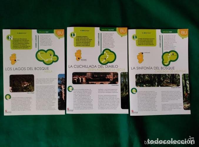 3 DIPTICOS CON LUGARES DE INTERES EN LA PROVINCIA DE BURGOS - NEILA - YECLA - CASCADA DE LAS PISAS (Coleccionismo - Folletos de Turismo)