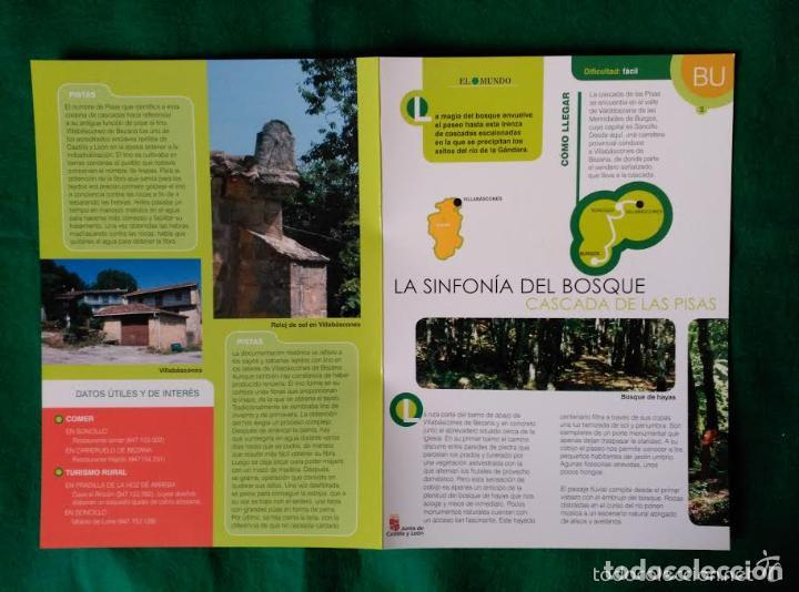 Folletos de turismo: 3 DIPTICOS CON LUGARES DE INTERES EN LA PROVINCIA DE BURGOS - NEILA - YECLA - CASCADA DE LAS PISAS - Foto 4 - 100027571
