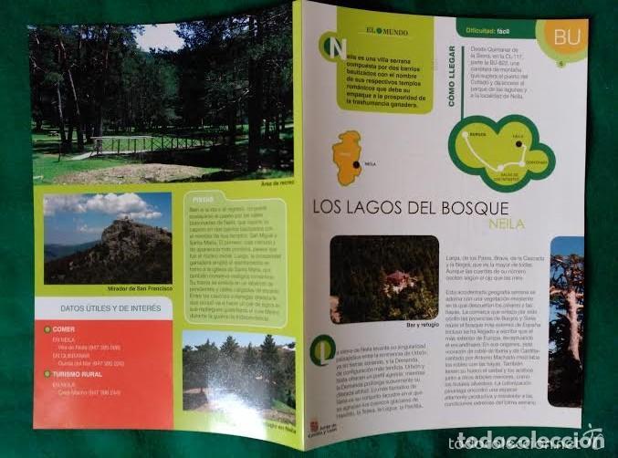 Folletos de turismo: 3 DIPTICOS CON LUGARES DE INTERES EN LA PROVINCIA DE BURGOS - NEILA - YECLA - CASCADA DE LAS PISAS - Foto 6 - 100027571