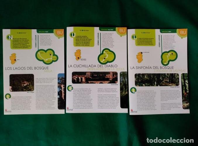 Folletos de turismo: 3 DIPTICOS CON LUGARES DE INTERES EN LA PROVINCIA DE BURGOS - NEILA - YECLA - CASCADA DE LAS PISAS - Foto 8 - 100027571
