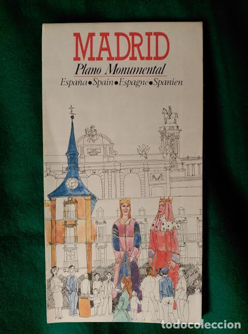 PLANO MONUMENTAL DE LA CIUDAD DE MADRID (Coleccionismo - Folletos de Turismo)