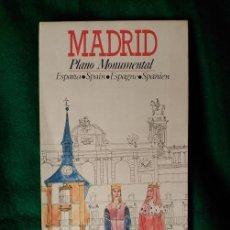 Folletos de turismo: PLANO MONUMENTAL DE LA CIUDAD DE MADRID . Lote 100032639