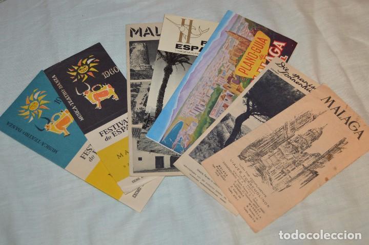 LOTE DE 7 FOLLETOS PUBLICITARIOS / TURISMO DE MÁLAGA - FESTIVALES, PLANOS - AÑOS 50/ 60 - HAZ OFERTA (Coleccionismo - Folletos de Turismo)