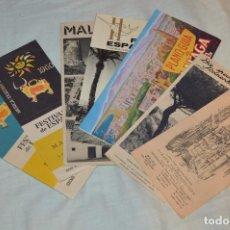 Folletos de turismo: LOTE DE 7 FOLLETOS PUBLICITARIOS / TURISMO DE MÁLAGA - FESTIVALES, PLANOS - AÑOS 50/ 60 - HAZ OFERTA. Lote 101571799