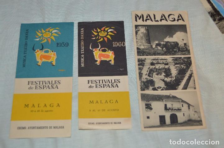 Folletos de turismo: LOTE DE 7 FOLLETOS PUBLICITARIOS / TURISMO DE MÁLAGA - FESTIVALES, PLANOS - AÑOS 50/ 60 - HAZ OFERTA - Foto 2 - 101571799
