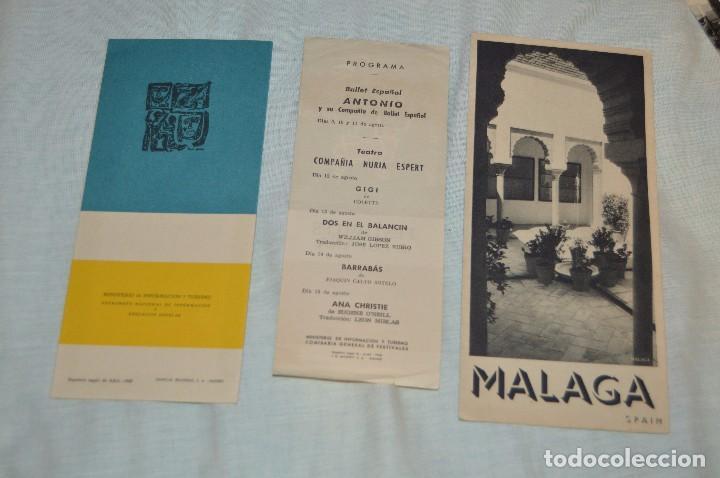 Folletos de turismo: LOTE DE 7 FOLLETOS PUBLICITARIOS / TURISMO DE MÁLAGA - FESTIVALES, PLANOS - AÑOS 50/ 60 - HAZ OFERTA - Foto 3 - 101571799