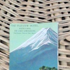 Folletos de turismo: FOLLETO DE TURISMO. THE FUJI- VIEW HOTEL, KATSUYAMA. 1936 W . Lote 101677619