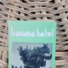 Folletos de turismo: FOLLETO PUBLICITARIO DE HOTEL. KAWANA. IZU JAPAN. JAPON 1936 W . Lote 101680123