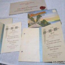 Folletos de turismo: 2 TARJETAS DE CUBA, RECUERDO BAUTISMO 1920. 1 SOUVENIR TARJETAS POSTALES CUBA . 1 INVITACIÓN.. Lote 102346307