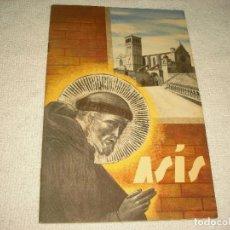 Folletos de turismo: ASIS, CATALOGO TURISTICO 1937 . 32 PAG. MUY ILUSTRADO CON FOTOGRAFIAS . ENIT .EDICIONE SPAGNOLA. Lote 102417507