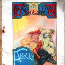 Folletos de turismo: FIESTAS Y FERIA EN ALCOY (ALICANTE) ABRIL 1934 - PROGRAMA DE FIESTAS ORIGINAL DE ÉPOCA. Lote 102793727