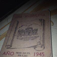 Folletos de turismo: GUÍA MADRILEÑA 1945. Lote 103087092