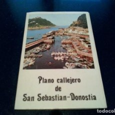 Folletos de turismo: GUIA PLANO SAN SEBASTIAN-DONOSTIA. Lote 103869307