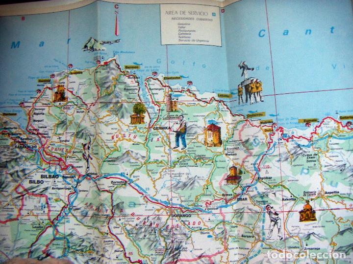 Mapa Turistico Del Pais Vasco Buy Old Travel Brochures At