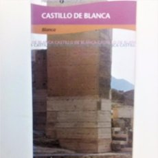 Folletos de turismo: FOLLETO DESPLEGABLE DEL CASTILLO DE BLANCA MURCIA. Lote 104765487