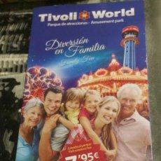 Folletos de turismo: FOLLETO TURÍSTICO DEL PARQUE DE ATRACCIONES TÍVOLI WORLD. BENALMÁDENA. 2016. EN ESPAÑOL E INGLÉS.. Lote 105332111