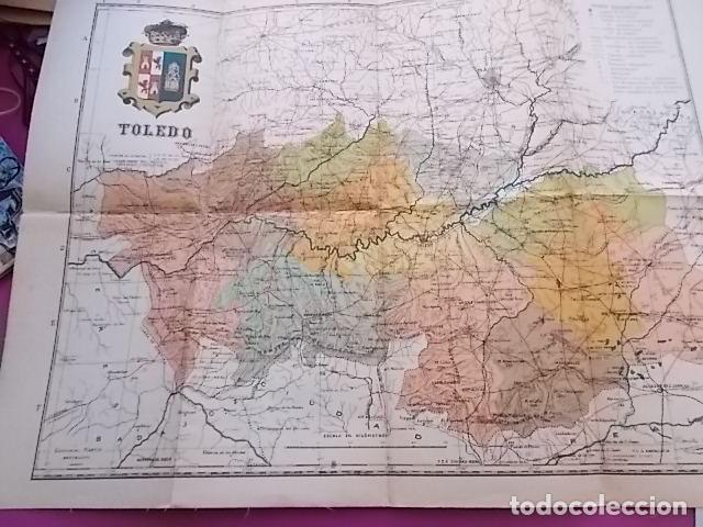 Mapa Provincia De Toledo Turismo.Antiguo Mapa De Provincia Toledo