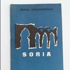 Folletos de turismo: DATOS INFORMATIVOS, VIAJES, DE SORIA. 1966. PUBLICACIONES DE LA SUBSECRETARIA DE TURISMO. W. Lote 105962695