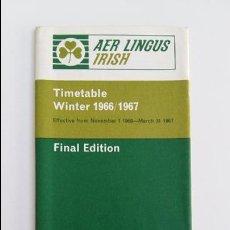 Folletos de turismo: FOLLETO DE VUELOS DE LA COMPAÑIA AER LINGUS. IRLANDA. NOVIEMBRE 1966- MARZO 1967. W. Lote 105962887