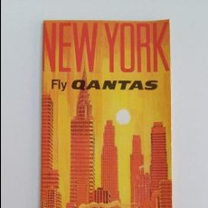 Folletos de turismo: AEROLINEAS AUSTRALIANAS QANTAS. FOLLETO SOBRE NEW YORK. AÑOS 60. W. Lote 105963079