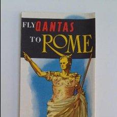 Folletos de turismo: AEROLINEAS AUSTRALIANAS QANTAS. FOLLETO ROMA. AÑOS 60. W. Lote 105963187