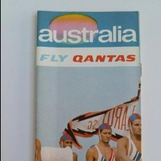 Folletos de turismo: AEROLINEAS AUSTRALIANAS QANTAS. FOLLETO AUSTRALIA. AÑOS 60. W. Lote 105963271