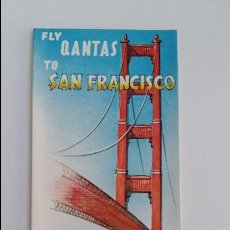 Folletos de turismo: AEROLINEAS AUSTRALIANAS QANTAS. FOLLETO SAN FRANCISCO. AÑOS 60. W. Lote 105963359