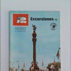 Folletos de turismo: FOLLETO EXCURSIONES AUTOPULLMAN. BARCELONA. AÑOS 70. W. Lote 105963575