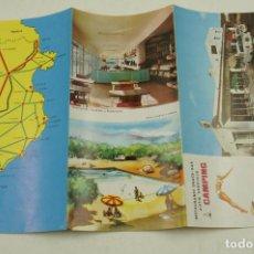 Folletos de turismo: TRÍPTICO CAMPING LA PISCINA, MALGRAT, COSTA DAURADA, BARCELONA. 10,5X21,5CM. Lote 106689755