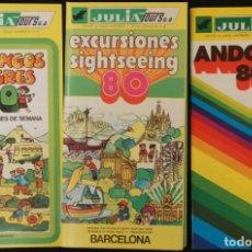 Folletos de turismo: FOLLETOS TURÍSTICOS DE AGENCIA DE VIAJES JULIATOURS, AÑO 80 (ANDORRA, BARCELONA, DOMINGOS ALEGRES). Lote 107241379