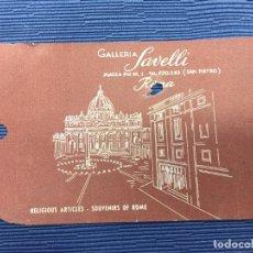 Folletos de turismo: ETIQUETA DE GALLERIA SAUELLI - PIAZZA PIO XIII, 1 SAN PIETRO ROMA - MIDE 10,70 X 7,10 CM.. Lote 107536391