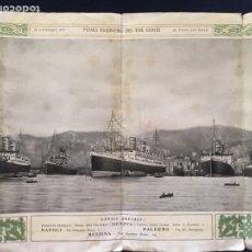 Folletos de turismo: FOLLETO TURÍSTICO BARCOS I TRE CONTI. EL NUEVO ALOJAMIENTO DE TERCERA CLASE. 1925. Lote 107721432