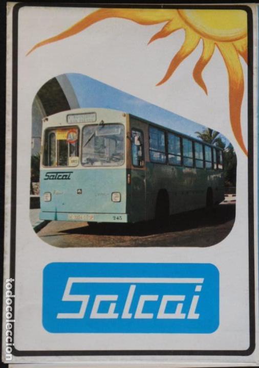 Folletos de turismo: Folleto autobuses (Guagua) Salcai de Gran Canaria: Lineas, horarios, mapa, plano callejero - Foto 2 - 107738855