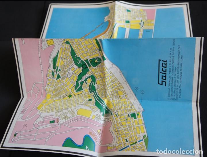 Folletos de turismo: Folleto autobuses (Guagua) Salcai de Gran Canaria: Lineas, horarios, mapa, plano callejero - Foto 4 - 107738855